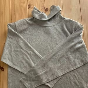 Talbots Grey Metallic Turtleneck